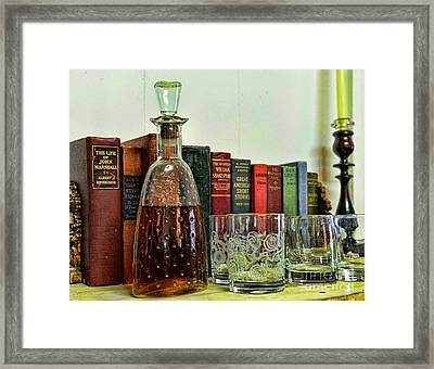 A Strong Drink And A Good Book Framed Print