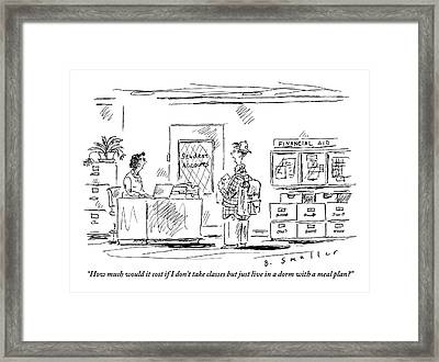A Student Speaks To A College Administrator Framed Print