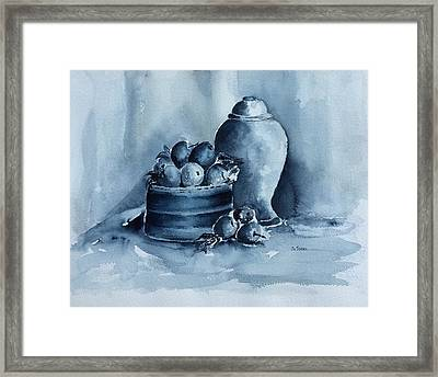 A Study In Blue Framed Print by Stephanie Sodel