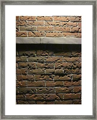 A Study In Brick Framed Print by Guy Ricketts