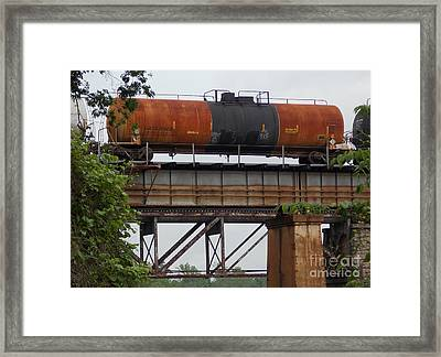A Study In Rust Framed Print by Skip Willits
