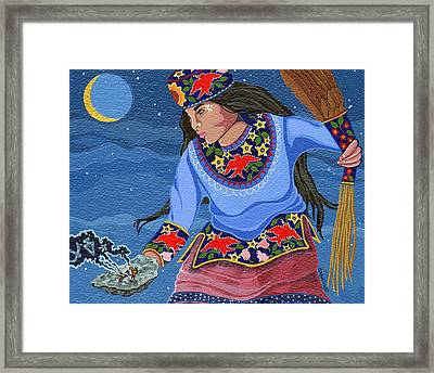 Framed Print featuring the painting A Study - Lightening Walker by Chholing Taha