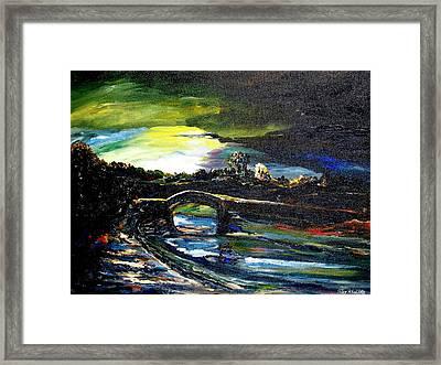 A Study Of Light Framed Print