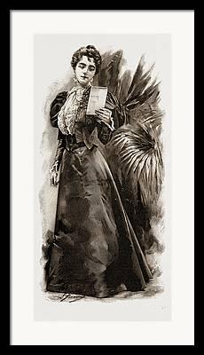 Satin Dress Drawings Framed Prints