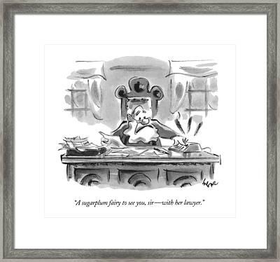 A Sugarplum Fairy To See Framed Print