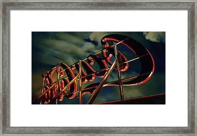 A Sullen Sky With A Reddish Glow, 2005 Framed Print by Joan Longas
