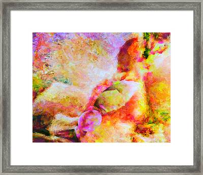 Framed Print featuring the painting A Summer Afternoon Love by Joe Misrasi