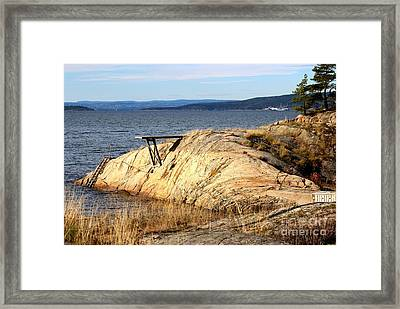 A Summer Day By The Oslo Fjord Framed Print