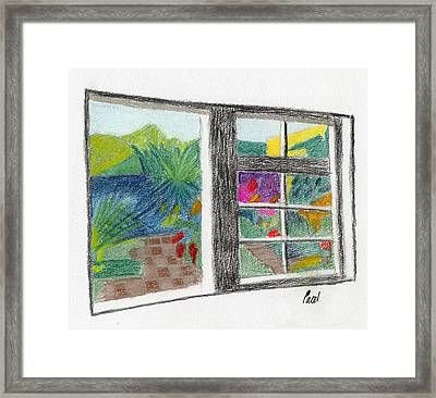 A Summer Garden Framed Print by Bav Patel