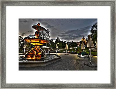 A Summer Night On The Boston Common Framed Print