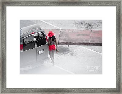 A Summer Splash Of Red  Framed Print by Rene Triay Photography