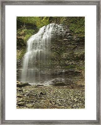 A Summer Walk To Tiffany Falls Framed Print