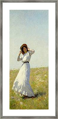 A Summe's Day Framed Print by William Henry Margetson
