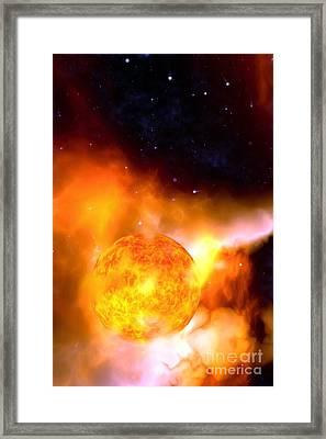A Sun Rises Framed Print