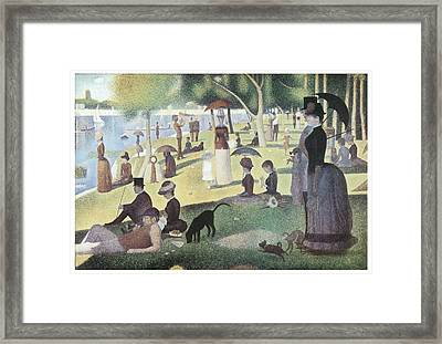 A Sunday Afternoon On The Island Of La Grande Jatte Framed Print by George-Pierre Seurat