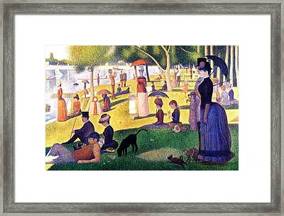 A Sunday Afternoon On The Island Of La Grande Jatte Framed Print by Seurat Georges