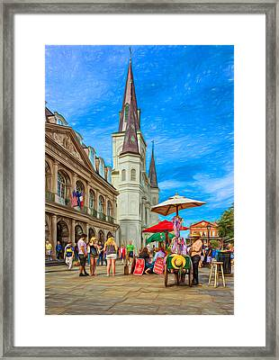 A Sunny Afternoon In Jackson Square 2 Framed Print