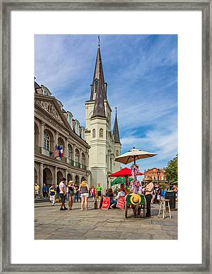 A Sunny Afternoon In Jackson Square Oil Framed Print