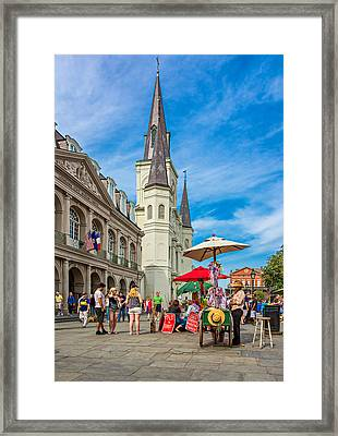 A Sunny Afternoon In Jackson Square Framed Print by Steve Harrington