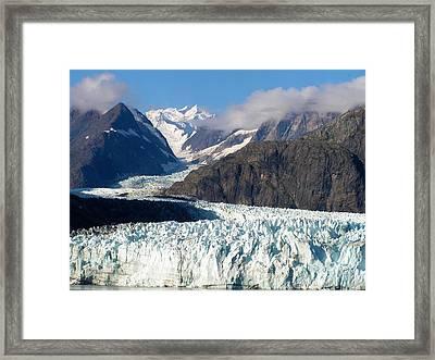 A Sunny Day In Glacier Bay Alaska Framed Print