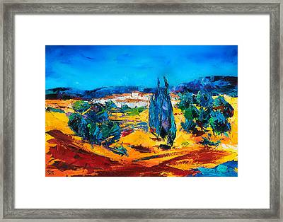 A Sunny Day In Provence Framed Print