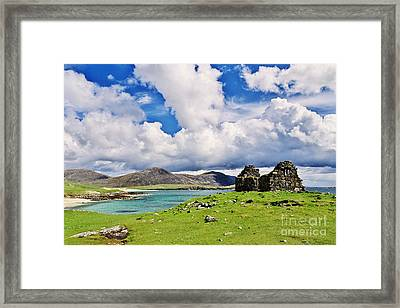 Framed Print featuring the photograph A Sunny Day In The Hebrides by Juergen Klust