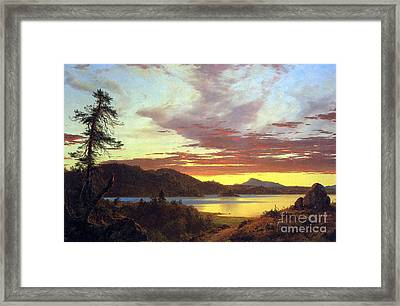 A Sunset By Frederick Edwin Church Framed Print