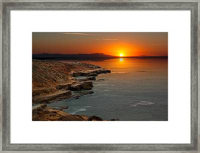 A Sunset Framed Print