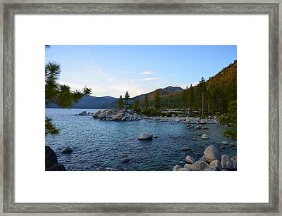 Just Before Sunset At Lake Tahoe Framed Print by Alex King