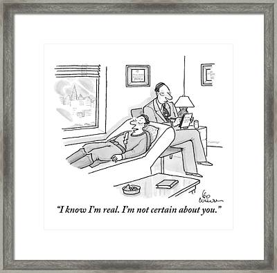 A Super Hero Is Seen Lying Framed Print