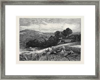 A Surrey Cornfield From The Exhibition Of The Society Framed Print by English School