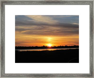 Framed Print featuring the photograph A Sweet Closure To Day by Joetta Beauford