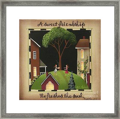 A Sweet Friendship Framed Print by Catherine Holman