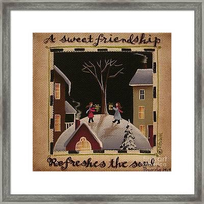 A Sweet Friendship  Winter Framed Print by Catherine Holman