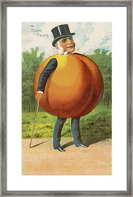 A Swell Peach Framed Print