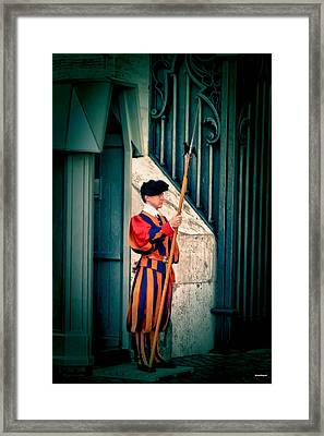 A Swiss Guard Framed Print by Tom Prendergast