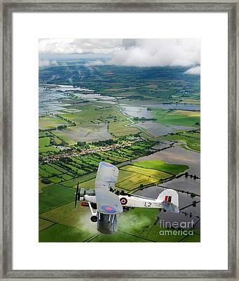 A Swordfish Aircraft With The Royal Navy Historic Flight. Framed Print by Paul Fearn