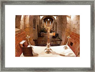 A Table At The Altar And A Decorated Framed Print