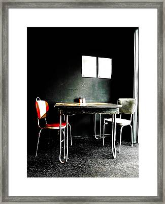A Table For Two Framed Print by Steve Taylor