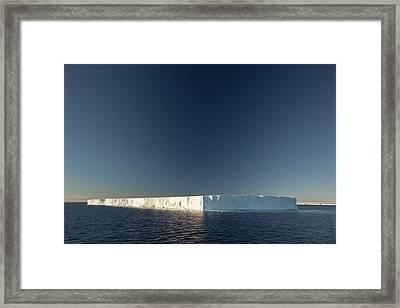 A Tabular Iceberg Off Livingstone Island Framed Print