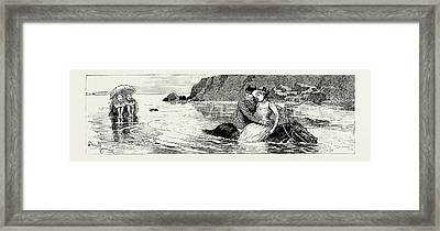 A Tale Of The Sea A Bird In The Hand Is Worth Two Framed Print by English School