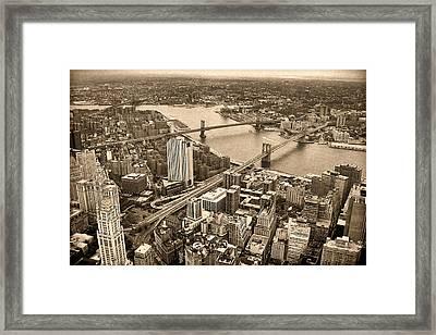 A Tale Of Two Bridges 2 Framed Print by Joann Vitali