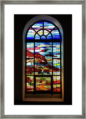 Another Tale Of Windows And Magical Landscapes Framed Print