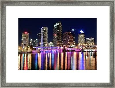 A Tampa Bay Night Framed Print