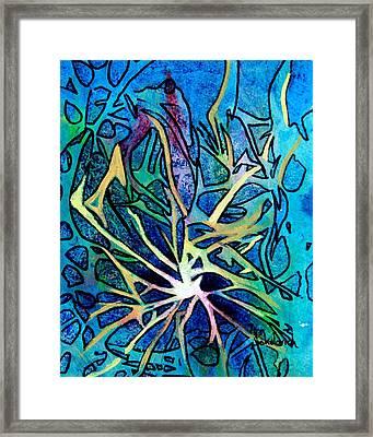 A Tangled Web Framed Print