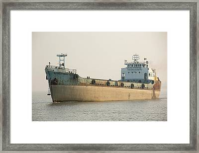 A Tanker In The Sunderbans Framed Print by Ashley Cooper