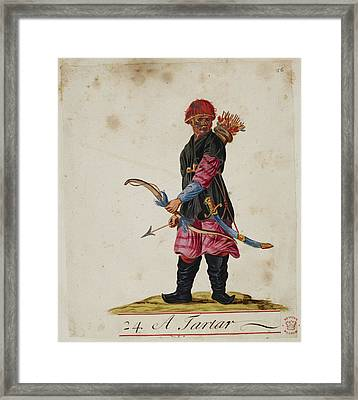 A Tartar Framed Print by British Library