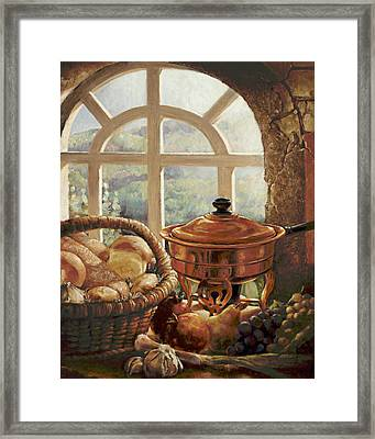 A Taste Of Provence Framed Print by Gini Heywood