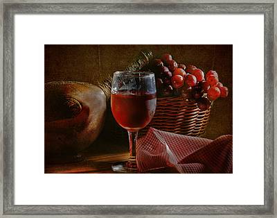 A Taste Of The Grape Framed Print by David and Carol Kelly