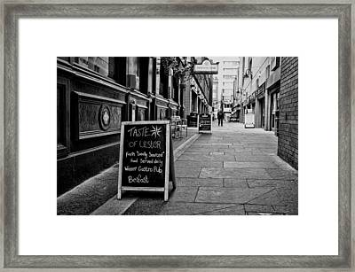 A Taste Of Ulster Framed Print
